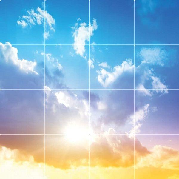 آسمان مجازی طرح آسمان و ابر